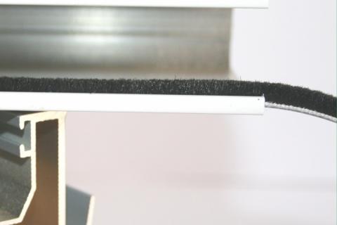 Phớt nỉ cửa nhôm đế 5.5mm TGL 5545 BP 3PJ BK